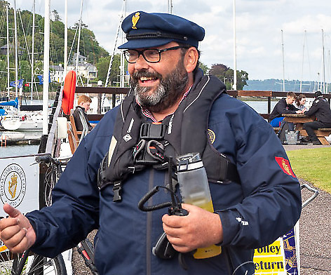 Admiral Colin Morehead of the Royal Cork YC has kept up his members' spirits through a very challenging period in the club's long and unique history. Photo: Robert Bateman