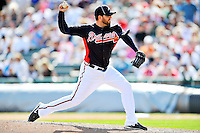 8 March 2011: Atlanta Braves pitcher Peter Moylan in action during a Spring Training game against the New York Yankees at Champion Park in Orlando, Florida. The Yankees edged out the Braves 5-4 in Grapefruit League action. Mandatory Credit: Ed Wolfstein Photo