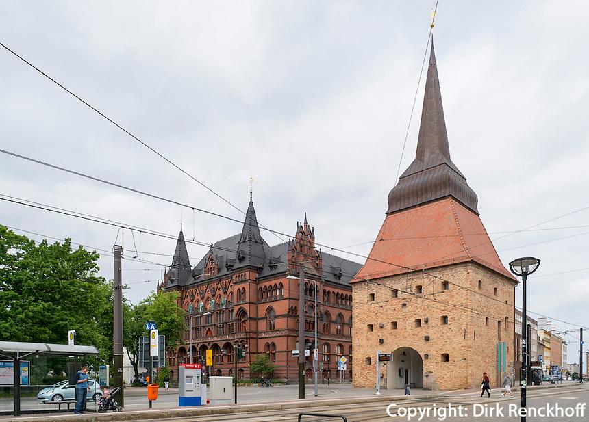 Steintor in Rostock, Mecklenburg-Vorpommern, Deutschland