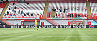 7th February 2021; Fountain of Youth Stadium Hamilton, South Lanarkshire, Scotland; Scottish Premiership Football, Hamilton Academical versus Rangers; Memorial messaging displayed  for Captain Sir Tom Moore who died at 100 years old recently