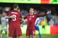 San Jose, Ca - Friday March 24, 2017: Clint Dempsey Alejandro Bedoya during the USA Men's National Team defeat of Honduras 6-0 during their 2018 FIFA World Cup Qualifying Hexagonal match at Avaya Stadium.