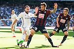 Real Madrid's player Daniel Carvajal and Eibar FC's player Antonio Luna and Ruben Peña Jimenez during a match of La Liga Santander at Santiago Bernabeu Stadium in Madrid. October 02, Spain. 2016. (ALTERPHOTOS/BorjaB.Hojas)