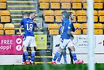St Johnstone v Livingston…12.12.20   McDiarmid Park      SPFL<br />Chris Kane celebrates his goal<br />Picture by Graeme Hart.<br />Copyright Perthshire Picture Agency<br />Tel: 01738 623350  Mobile: 07990 594431