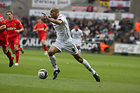 Pictured: Darren Pratley of Swansea City in action<br />