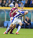 24/10/2009  Copyright  Pic : James Stewart.sct_jspa04_kilmarnock_st_johnstone  . :: CONOR SAMMON GETA AWAY FROM JODY MORRIS :: .James Stewart Photography 19 Carronlea Drive, Falkirk. FK2 8DN      Vat Reg No. 607 6932 25.Telephone      : +44 (0)1324 570291 .Mobile              : +44 (0)7721 416997.E-mail  :  jim@jspa.co.uk.If you require further information then contact Jim Stewart on any of the numbers above.........