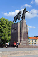 Denkmal Gediminas in Vilniusin Vilnius, Litauen, Europa, Unesco-Weltkulturerbe