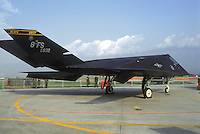 """- stealth fighter F 117 of the US Air Force on Aviano air base....- caccia """"stealth"""" F 117 dell' US Air Force sulla base aerea USA di Aviano......"""