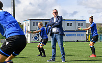 Brugge's head coach Leo Van Der Elst pictured during warming up of a female soccer game between Club Brugge Dames YLA and Racing Genk Ladies on the second matchday of the 2020 - 2021 season of Belgian Scooore Women s SuperLeague , saturday 5 th of September 2020  in Brugge , Belgium . PHOTO SPORTPIX.BE | SPP | DAVID CATRY