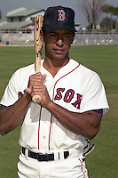 Boston Red Sox Mickey Pina during spring training circa 1990 at Chain of Lakes Park in Winter Haven, Florida.  (MJA/Four Seam Images)