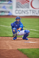Ramon Rodriguez (7) of the Ogden Raptors before the game against the Grand Junction Rockies at Lindquist Field on June 17, 2019 in Ogden, Utah. The Rockies defeated the Raptors 9-0. (Stephen Smith/Four Seam Images)