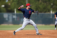 Cleveland Indians Tyler Krieger (17) during an instructional league game against the Milwaukee Brewers on October 8, 2015 at the Maryvale Baseball Complex in Maryvale, Arizona.  (Mike Janes/Four Seam Images)