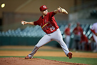 Palm Beach Cardinals relief pitcher Will Latcham (26) delivers a pitch during a game against the Florida Fire Frogs on May 1, 2018 at Osceola County Stadium in Kissimmee, Florida.  Florida defeated Palm Beach 3-2.  (Mike Janes/Four Seam Images)