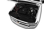 Car Stock 2018 Chevrolet Silverado-1500 1LS-Crew-Cab-Short-Box 4 Door Pickup Engine  high angle detail view
