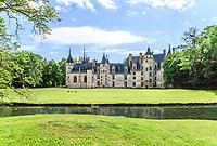 France, Cher, Berry, Route Jacques Coeur, Chateau de Meillant, castle and park // France, Cher (18), Berry, Route Jacques Coeur, Meillant, château de Meillant