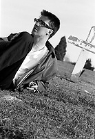 Montreal (Qc) CANADA - Oct 1 1996<br /> -File Photo -<br /> Paul Marchand , journalist ,war correspondant and author of Sympathie pour le Diable (Lanctot editeur, 1997)