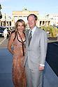 John B. Emerson mit Ehefrau Kimberly Marteau Emerson bei der Marc Cain Fashion Show auf der Mercedes-Benz Fashion Week Berlin Spring/Summer 2016. Berlin, 07.07.2015