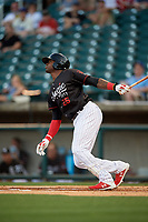 Birmingham Barons Luis Robert (26) at bat during a Southern League game against the Chattanooga Lookouts on May 2, 2019 at Regions Field in Birmingham, Alabama.  Birmingham defeated Chattanooga 4-2.  (Mike Janes/Four Seam Images)