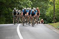 the muddy peloton paced by Team Veranda's Willems-Crelan<br /> <br /> Dwars door het Hageland (1.1)<br /> 1 Day Race: Aarschot > Diest (194km)