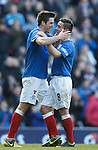 Andy Little celebrates his goal with Ian Black