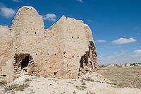 Issabiya, near Garyan, Libya - Abandoned Berber Granary, semi-arid countryside