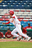 Outfielder Cui Xiao (27) of the China National Team during a game vs. the Houston Astros Instructional League team at Holman Stadium in Vero Beach, Florida September 28, 2010.   China is in Florida training for the Asia games which will be played in Guangzhou, China in November.  Photo By Mike Janes/Four Seam Images