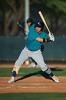 AZL Mariners Nolan Perez (5) at bat during an Arizona League game against the AZL D-backs on July 3, 2019 at Salt River Fields at Talking Stick in Scottsdale, Arizona. The AZL D-backs defeated the AZL Mariners 3-1. (Zachary Lucy/Four Seam Images)