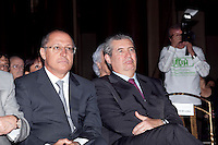 ATENÇÃO EDITOR: FOTO EMBARGADA PARA VEÍCULOS INTERNACIONAIS. SAO PAULO, SP, 11 SETEMBRO DE 2012 - CAMPANHA DOAR E LEGA E A VIDA E RECARREGAVEL DO TJSP - O Governador do Estado, Geraldo Alckmin, o Presidente da Assembleia Estadual, Dep. Barros Munhos e o Presidente do TJSP, Des. Ivan Ricardo Gariso Sartori, lancam nesta manha, 11, na sede do Poder Judiciario paulista, na  zona central da cidade, a camapanha Doar e Legal e a Vida e Recarregavael, a campanha foi idealizada pela esposa do Presidente do TJSP, Dra. Claudia Sartori e tera apoio de do colunista social Amaury Jr, para estimular a doacao de orgaos tanto pelos funcionarios do TJSP bem como a populacao em geral. Nesta foto, o Governador Geraldo Alckmin (e) e o Des IVan Sartori (d). FOTO RICARDO LOU - BRAZIL PHOTO PRESS