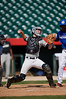 Dylan Post (17) during the Dominican Prospect League Elite Underclass International Series, powered by Baseball Factory, on August 31, 2017 at Silver Cross Field in Joliet, Illinois.  (Mike Janes/Four Seam Images)