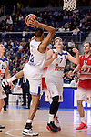 Real Madrid's Anthony Randolph and Luka Doncic during Turkish Airlines Euroleage match between Real Madrid and EA7 Emporio Armani Milan at Wizink Center in Madrid, Spain. January 27, 2017. (ALTERPHOTOS/BorjaB.Hojas)