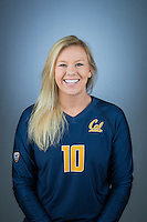 Cal Volleyball W Portraits, August 8, 2016