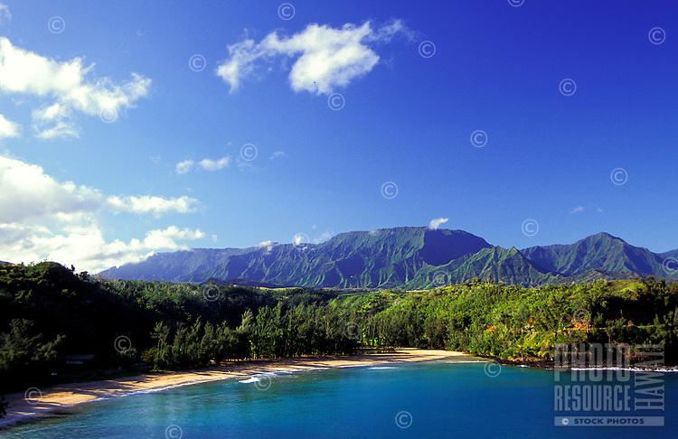 Pristine coastline on Kauai's north shore.
