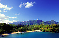Pristine coastline on Kauai's north shore.