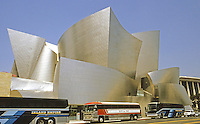 Frank Gehry: Walt Disney Concert Hall, from across Grand Ave. Photo '04.