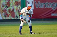 Left fielder Cam Conner #30 of the Burlington Royals on defense against the Bristol White Sox at Burlington Athletic Park on July 9, 2011 in Burlington, North Carolina.  The Royals defeated the White Sox 3-2.   (Brian Westerholt / Four Seam Images)