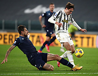 Calcio, Serie A: Juventus FC - S.S.Lazio, Turin, Allianz Stadium, March 6, 2021.<br /> Lazio's Francesdco Acerbi (l) in action with Juventus' Federico Chiesa (r) during the Italian Serie A football match between Juventus and Lazio at the Allianz stadium in Turin, on March 6, 2021.<br /> UPDATE IMAGES PRESS/Isabella Bonotto