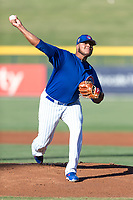 AZL Cubs 1 starting pitcher Yunior Perez (62) delivers a pitch during an Arizona League playoff game against the AZL Rangers at Sloan Park on August 29, 2018 in Mesa, Arizona. The AZL Cubs 1 defeated the AZL Rangers 8-7. (Zachary Lucy/Four Seam Images)