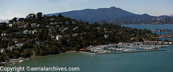 aerial photograph Belvedere, Mount Tamalpais Marin County, California
