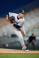Tampa Tarpons relief pitcher Justin Kamplain (8) delivers a pitch during a game against the Bradenton Marauders on April 25, 2018 at LECOM Park in Bradenton, Florida.  Tampa defeated Bradenton 7-3.  (Mike Janes/Four Seam Images)
