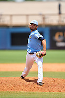 FCL Rays pitcher Matthew Peguero (87) during a game against the FCL Twins on July 20, 2021 at Charlotte Sports Park in Port Charlotte, Florida.  (Mike Janes/Four Seam Images)