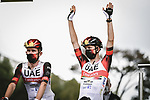 Defending Champion Tadej Pogacar (SLO) UAE Team Emirates at sign on before the start of Stage 1 of the 2021 Tour de France, running 197.8km from Brest to Landerneau, France. 26th June 2021.  <br /> Picture: A.S.O./Pauline Ballet | Cyclefile<br /> <br /> All photos usage must carry mandatory copyright credit (© Cyclefile | A.S.O./Pauline Ballet)