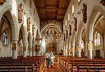 Germany, Baden-Wurttemberg, Black Forest, Kappelrodeck at Ortenau district: church St Nicholas - interior | Deutschland, Baden-Wuerttemberg, Schwarzwald, Kappelrodeck im Ortenaukreis: Kirche St. Nikolaus