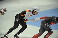SPEEDSKATING: DORDRECHT: 05-03-2021, ISU World Short Track Speedskating Championships, QF 1500m Men, Adrian Luedtke (GER), ©photo Martin de Jong