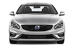 Car photography straight front view of a 2017 Volvo S60 R-Design 4 Door Sedan Front View