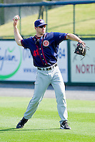 Sam Brown #41 of the Hagerstown Suns gets some throwing in prior to the game against the Rome Braves at State Mutual Stadium on May 2, 2011 in Rome, Georgia.   Photo by Brian Westerholt / Four Seam Images