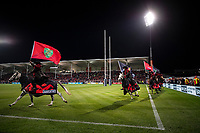The Crusaders horses ride around the field during the 2021 Super Rugby Aotearoa final between the Crusaders and Chiefs at Orangetheory Stadium in Christchurch, New Zealand on Saturday, 8 May 2021. Photo: Joe Johnson / lintottphoto.co.nz