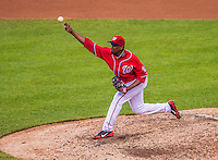 27 July 2013: Washington Nationals pitcher Rafael Soriano on the mound against the New York Mets at Nationals Park in Washington, DC. The Nationals defeated the Mets 4-1. Mandatory Credit: Ed Wolfstein Photo *** RAW (NEF) Image File Available ***