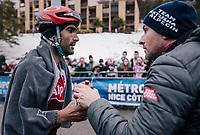 Tiago Machado (POR/Katusha-Alpecin) after finishing<br /> <br /> 76th Paris-Nice 2018<br /> Stage 7: Nice > Valdeblore La Colmiane (175km)