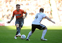 Swansea City's Barrie McKay battles with Sheffield United's John Fleck during the Sky Bet Championship match between Sheffield United and Swansea City at Bramall Lane, Sheffield, England, UK. Saturday 04 August 2018