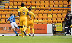 St Johnstone v Livingston….10.08.19      McDiarmid Park     SPFL <br />Matty Kennedy scores to make it 2-1<br />Picture by Graeme Hart. <br />Copyright Perthshire Picture Agency<br />Tel: 01738 623350  Mobile: 07990 594431