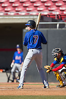 Chase Barbary (7) of Powdersville High School in Greenville, South Carolina playing for the New York Mets scout team at the South Atlantic Border Battle at Doak Field on November 2, 2014.  (Brian Westerholt/Four Seam Images)